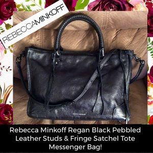 Rebecca Minkoff Regan Leather Studs & Fringe Tote!